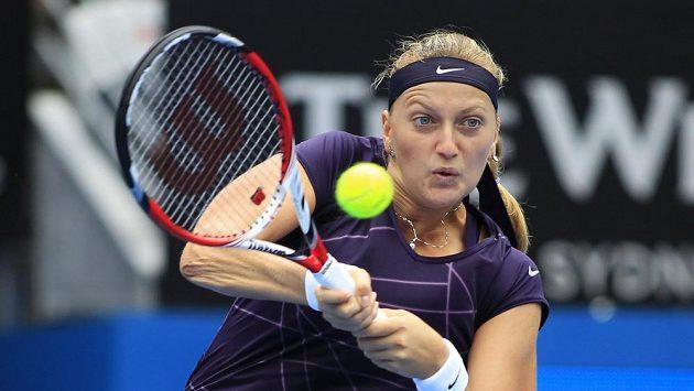 Petra Kvitová v utkání s Christinou McHaleovou.