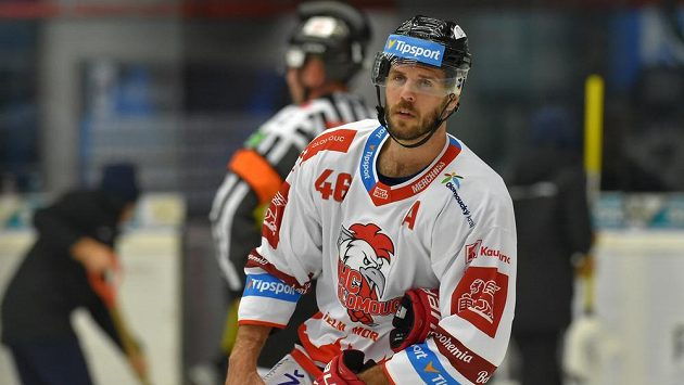 David Krejčí z Olomouce při utkání s Kladnem.