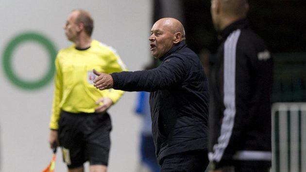 Trenér Bohemians Miroslav Koubek během utkání s Mladou Boleslaví.