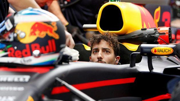 Daniel Ricciardo před Velkou cenou Abú Zabí.
