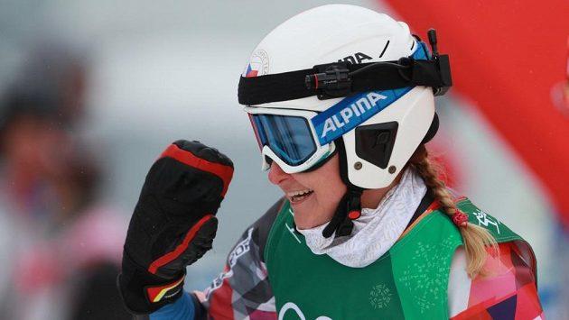 Česká skikrosařka Nikol Kučerová po osmifinálové rozjížďce zářila, nakonec však nebyla po svém olympijském vystoupení spokojená, brala 14. místo.