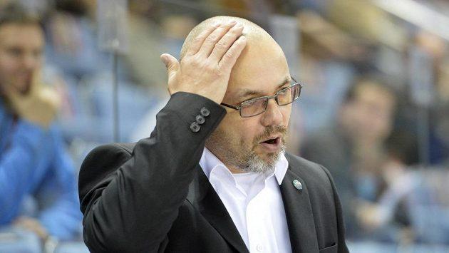 Trenér Třince Jiří Kalous.