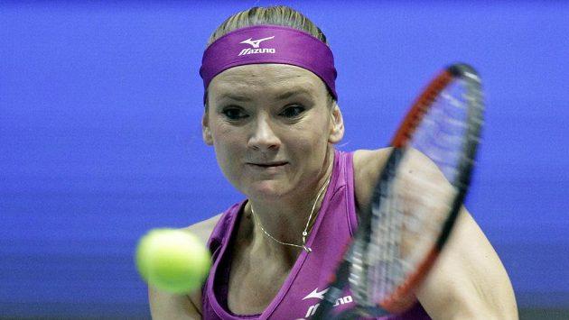 Tereza Martincová při utkání s Italkou Robertou Vinciovou.