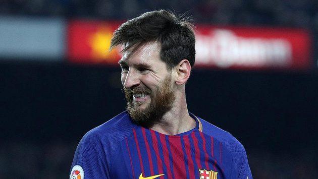 Lionel Messi z FC Barcelona při utkání s Espaňolem.