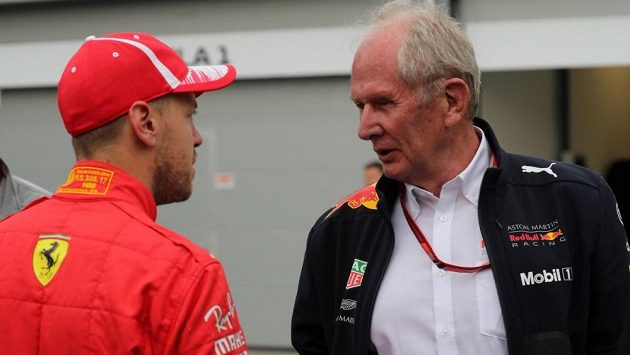 Sebastian Vettel a Helmut Marko.