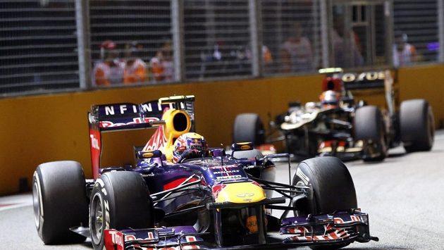 Mark Webber při Velké ceně Singapuru.
