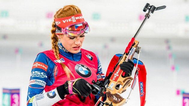 Česká biatlonová hvězda Gabriela Koukalová.