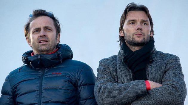 Marek Jankulovski (vpravo) a majitel Baníku Ostrava Václav Brabec.