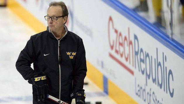 Trénink švédské hokejové reprezentace Pär Marts.