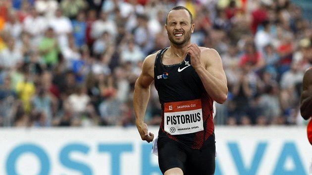 Čtvrtkař Oscar Pistorius na atletickém mítinku Zlatá tretra (Ostrava 2011).