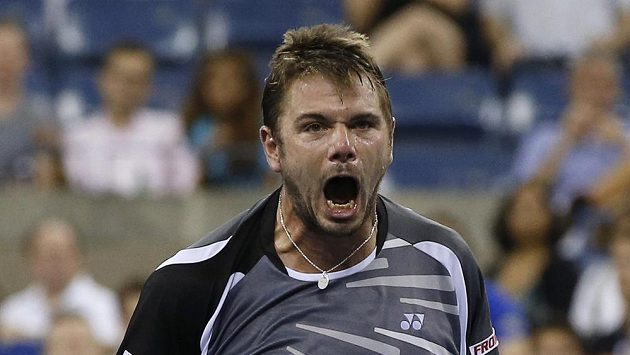 Švýcar Stan Wawrinka během zápasu druhého kola US Open.