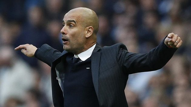 Trenér Manchesteru City Josep Guardiola.