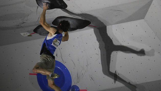 Adam Ondra na MS ve sportovním lezení.