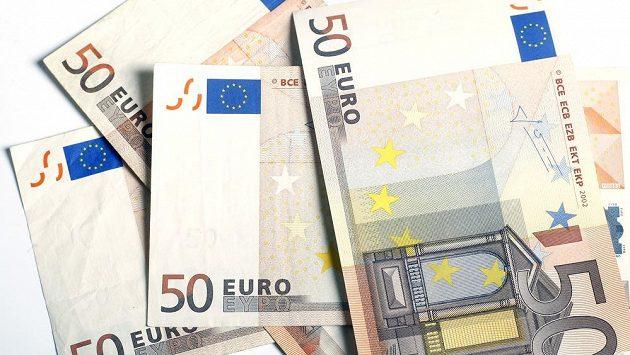 Euro bankovky. Ilustrační snímek