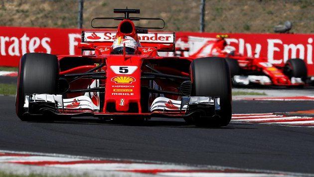 Sebastian Vettel s Ferrari vyhrál Velkou cenu Maďarska F1.
