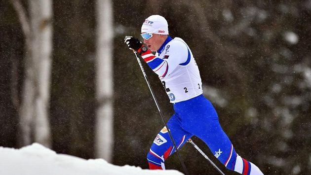 Michal Novák ve sprintu mužů v rámci Evropského poháru OPA v běhu na lyžích.