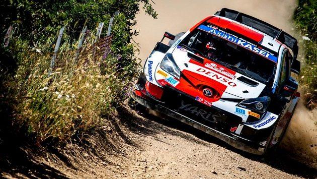 Sébastien Ogier na trati Italské rallye,