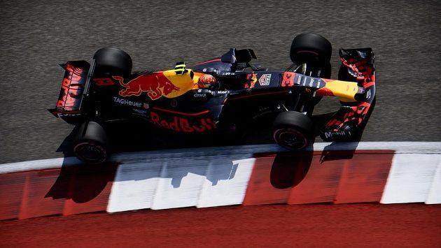 Max Verstappen během Velké ceny USA.