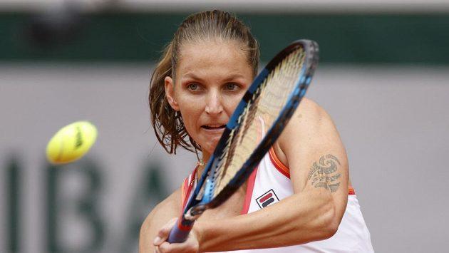 Karolína Plíšková během úvodního kola French Open.