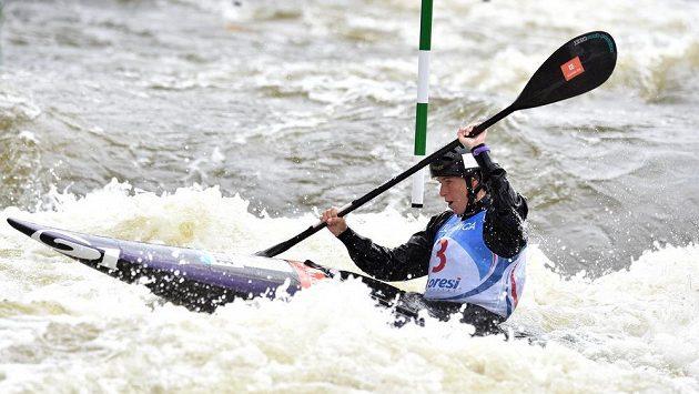 Kajakářka Kateřina Kudějová obsadila v Troji druhé místo.