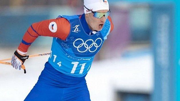 Lyžař Michal Novák na archivní fotografii z olympiády v Pchjongjangu