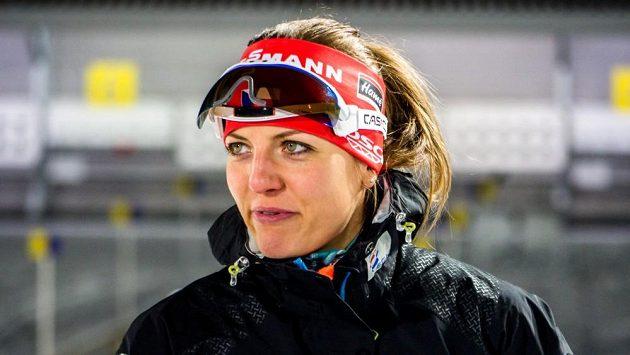Česká biatlonistka Jitka Landová.