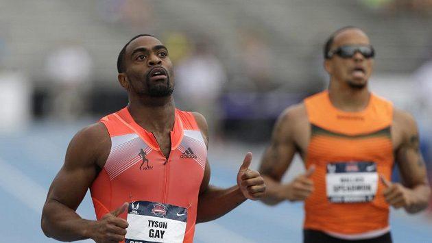 Tyson Gay (vlevo) neměl na americkém atletickém šampionátu ve sprintech konkurenci.