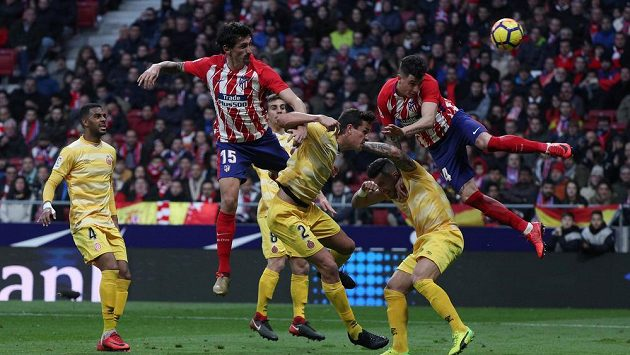 Ligové utkání fotbalistů Atlética Madrid s Gironou - ilustrační foto.