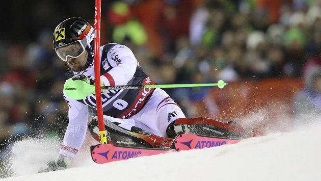 Rakušan Marcel Hirscher při slalomu v Madonně di Campiglio.
