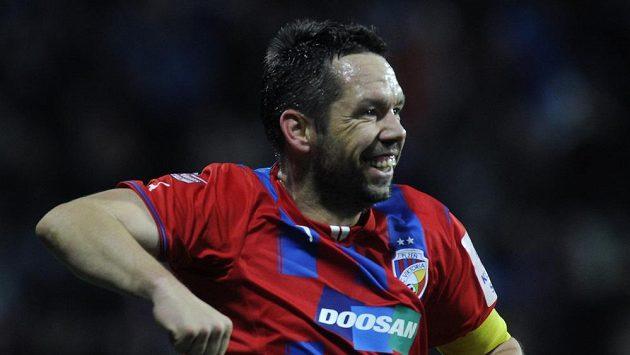 Pavel Horváth z Plzně se raduje z gólu proti Příbrami.