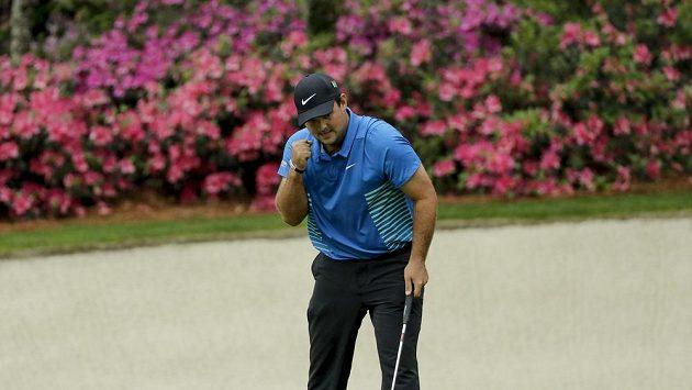 Golfista Patrick Reed během třetího kola Masters v americké Augustě.