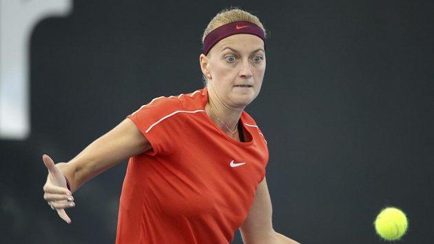 Česká tenistka Petra Kvitová v úvodním kole turnaje v Brisbane.