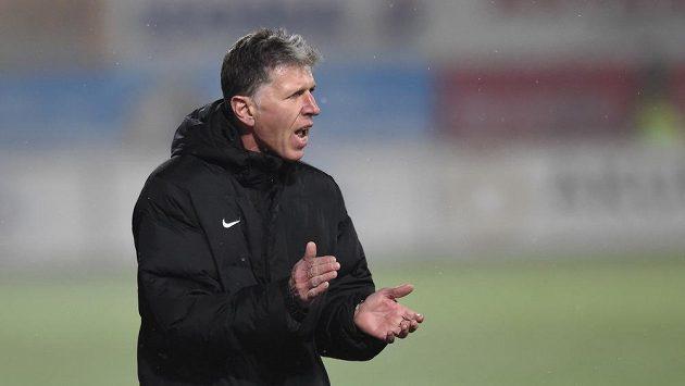 Trenér Jablonce Jaroslav Šilhavý během zápasu se Spartou.