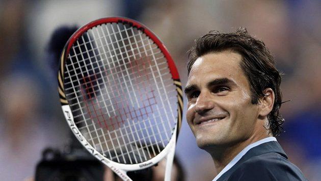 Roger Federer po utkání s Adrianem Mannarinem