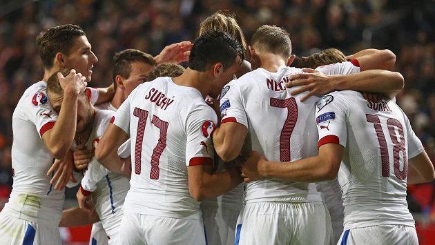 Česká radost po prvním gólu proti Nizozemsku.