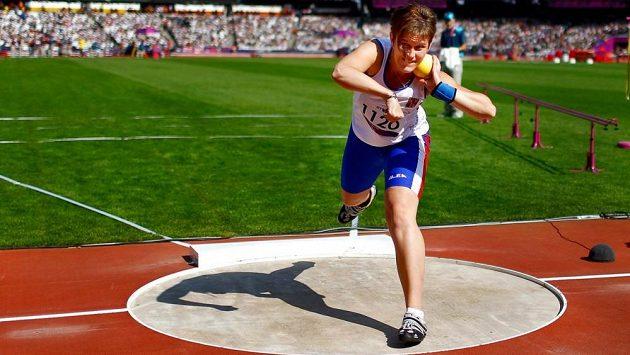 Koulařka Eva Berná na snímku z londýnské olympiády.