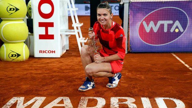 Rumunská tenistka Simona Halepová ovládla turnaj v Madridu.