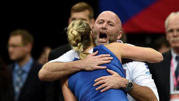 Petra Kvitová s trenérem Davidem Kotyzou.