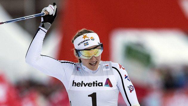 Stina Nilssonová ze Švédska při Tour ještě ve Val Müstairu.
