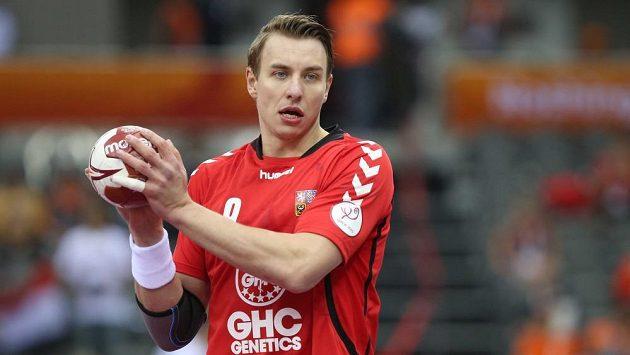 Český házenkář Filip Jícha v utkání na MS proti Egyptu.