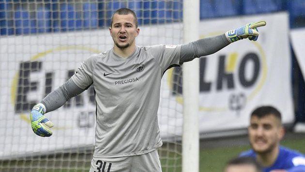 Brankář Liberce Milan Knobloch.