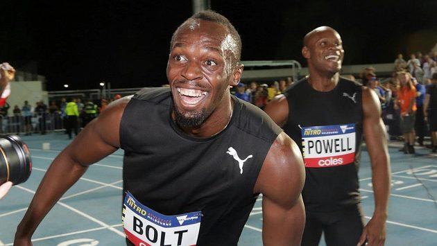 Jamajčan Usain Bolt při nedávných závodech v Melbourne.