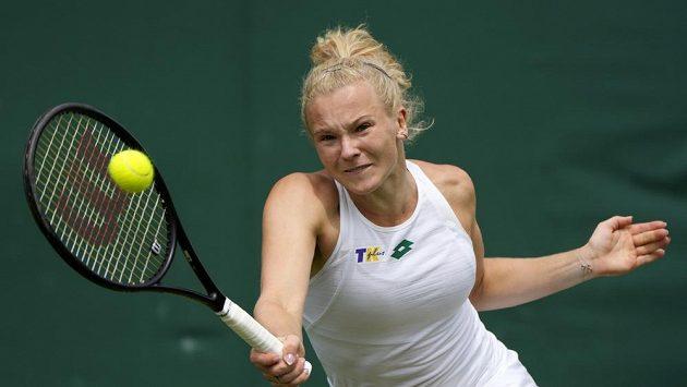 Česká tenistka Kateřina Siniaková ve druhém kole Wimbledonu.