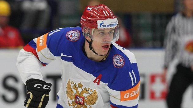 Ruský útočník Jevgenij Malkin.