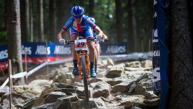 Česká reprezentantka Kateřina Nash při tréninku na mistrovství světa v Novém Městě na Moravě.