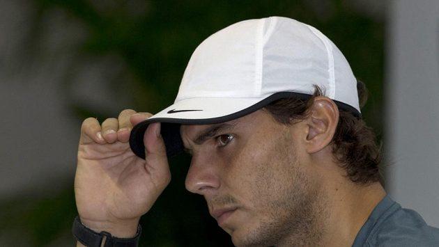 Španělský tenista Rafael Nadal na turnaji v Šanghaji.