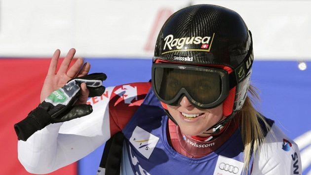 Švýcarka Lara Gutová po triumfu v Beaver Creeku.