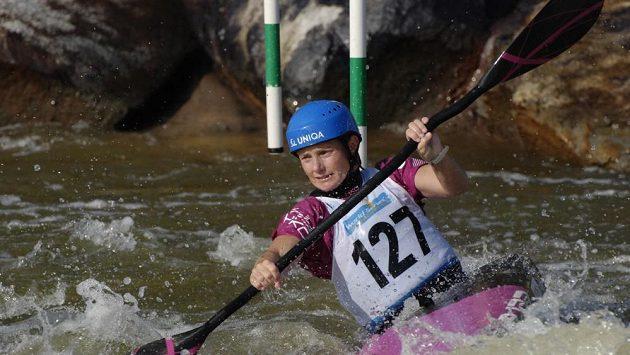 Štěpánka Hilgertová při tréninku na kanále v americkém Deep Creeku.