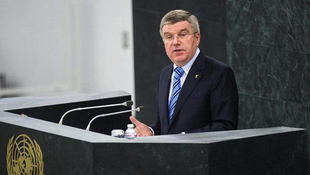 Prezident mezinárodního olympijskýho výboru Thomas Bach