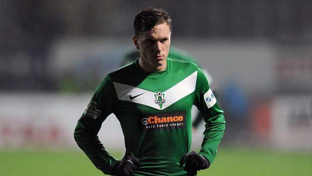 Zklamaný záložník Jablonce Ondřej Vaněk po zápase se Spartou.